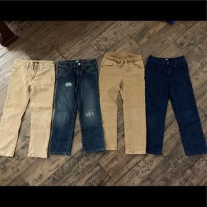 4 pants by Gap and 7 jeans size 5